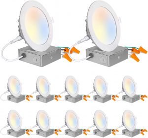 12 Pack 4-Inch 5CCT LED Recessed Ceiling Light
