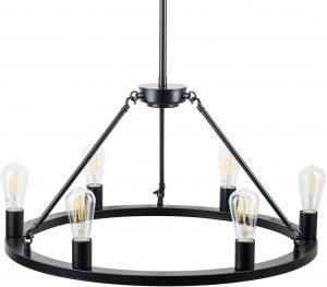 Black Wagon Wheel Chandelier