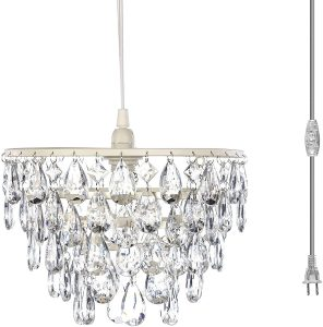 Crystal White Hanging Swag Dome Chandelier