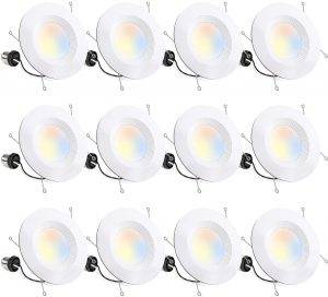 Hykoli0ty 12 Pack 5/6 Inch Selectable CCT LED Recessed Lighting