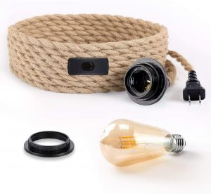 PEESIN Pendant Light Cord Kit with Switch