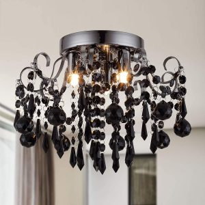 Q&S Crystal Ceiling Light Fixture Small Chandelier