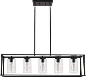 VINLUZ Farmhouse Chandeliers Rectangle Lighting Fixtures