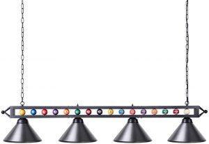 Wellmet Billiard Light with 4 Matte Metal Shade