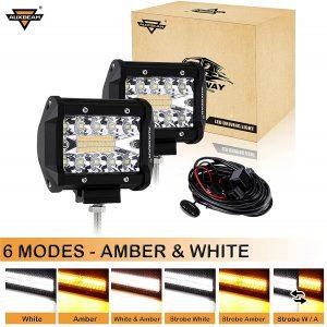 AUXBEAM amber LED lights
