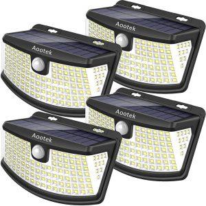 Aootek solar lights 120 Leds with lights reflector