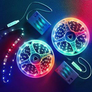 HOEUJIA battery LED lights