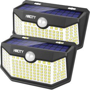 Hmcity Solar Lights Outdoor 120 LED