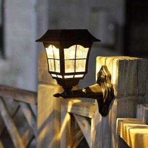 Maggift 15 Lumens Solar Wall Lantern Outdoor