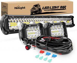 Nilight 20Inch 420W Triple Row Spot Flood Combo Led Light Bar