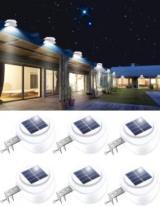 Outdoor 9 LED Fence Light Waterproof Security Lamps