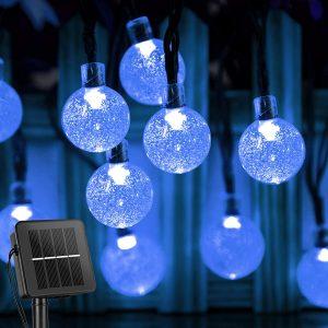 Solar String Lights Outdoor 60 Led 35.6 Feet Crystal